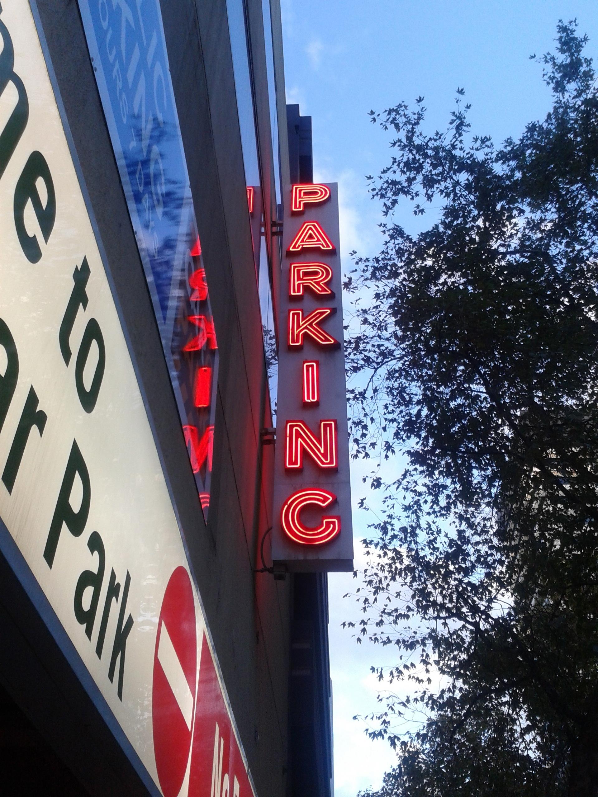 NeonParkingSign